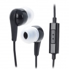 In-Ear-Ohrhörer w / Mic für Samsung Galaxy Note 10,1 GT-N8000 + More - Black (3,5 mm-Stecker / 100cm)
