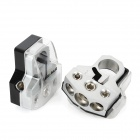 LeiGe LGB-66 Car Battery Terminal Clamp - Silver (2 PCS)