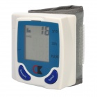 420003 1.7&quot; LCD Armband Blood Pressure / Pulse Meter - White + Grey (2 x AAA)