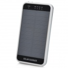 3600mAh Solar Powered Rechargeable Emergency Charger w/ Flashlight + Mobile Phone Adapters - Silver