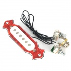 Universal Acoustic Guitar Pickup - White + Red