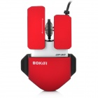 BOKAI OP-90 1200dpi USB Wired Optical Mouse - Red