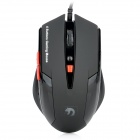 XinMeng XM-M398 800 / 1600 / 2000dpi USB Gaming Optical Mouse - Black