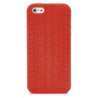 Protective Silicone Tire Grain Back Case Cover for iPhone 5 - Red