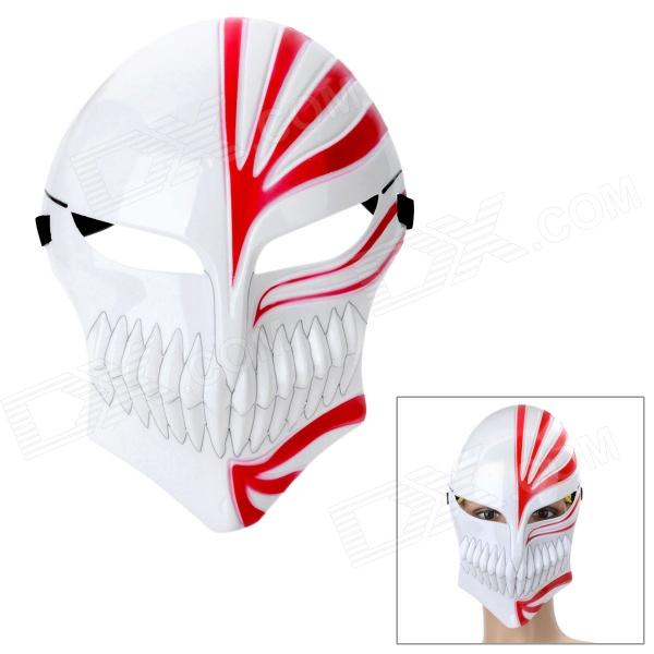 Bleach Ichigo's Hollow Mask - White + Red halloween costumes scary centipede ghost mask skeleton patterned coat set black white red
