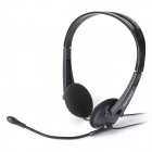 Voiceao VA-068M 3.5mm Plug Stereo Headset Headphone w/ Microphone - Black