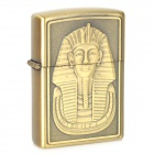 EARTH Pharaoh Pattern Windproof Zinc Alloy Oil Lighter - Golden