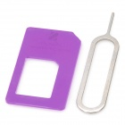 Micro SIM Card to Standard SIM Card Adapter - Purple