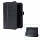 Stylish PU Leather Protective Carrying Case for Amazon Kindle Fire HD 7&quot; - Black