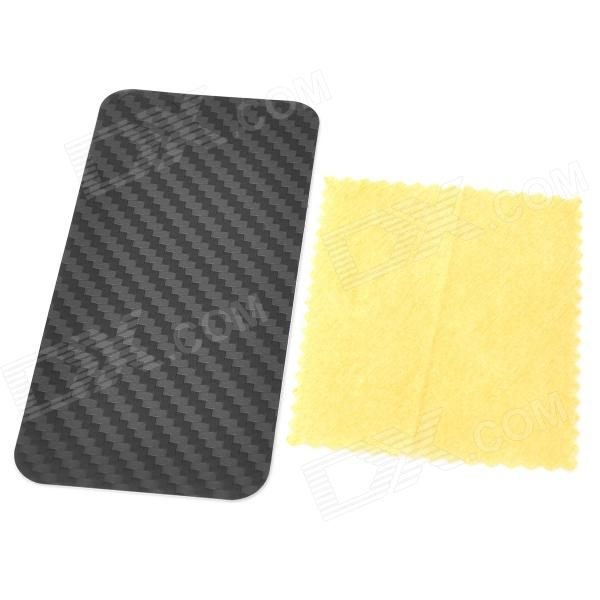 Protective Carbon Fiber PVC Back Skin Stickers for Iphone 5 - Black (5 PCS)