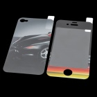 Protective Car Pattern Screen Front + Back Protector Set for Iphone 4 / 4S - Colorful