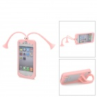 C.Two Grasshopper Silicone Bumper Frame Cover w/ Suction Cup Antennas for Iphone 4 /4S - Pink