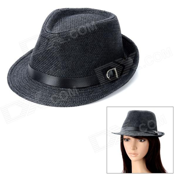 Woven Straw Jazz Hat - Black stetson men s breakers premium shantung straw hat