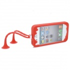C.Two Grasshopper Silicone Bumper Frame Cover w / Suction Cup Antennen für iPhone 4 / 4S - Rot