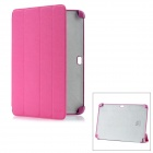 Protective PC + Fiber Case for Samsung Galaxy Note 10.1 N8000 - Deep Pink