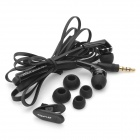 Awei Q7i Stylish In-Ear Earphone with Microphone for Iphone / Ipad + More - Black (3.5mm Plug)