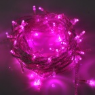 6W 100 - LED 8 -Mode Purple Light Joulu dekoratiivinen String valo ( 110V / 2 - Flat - Pin Plug )