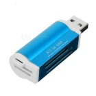 USB 2.0 SD / TF / M2 / MS Card Reader - Blue