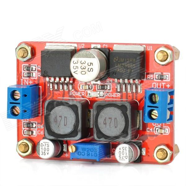 3.5~28V to 1.25~26V DC-DC Step-Up Step-Down LM2596S Solar Power Supply Converter Module - Red dc dc 5v to 12v usb step up power supply module boost converter module 5 8w power for power bank diy