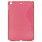 New TPU + PVC Protective Back Case Cover for Ipad MINI - Red