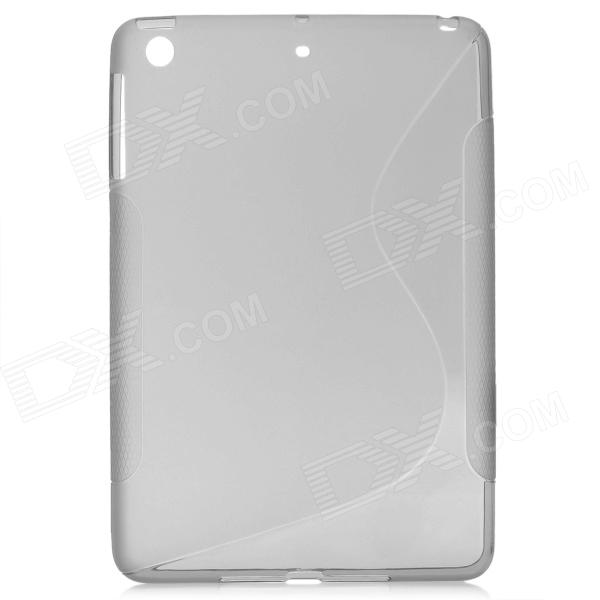 New TPU + PVC Protective Back Case Cover for Ipad MINI - Grey