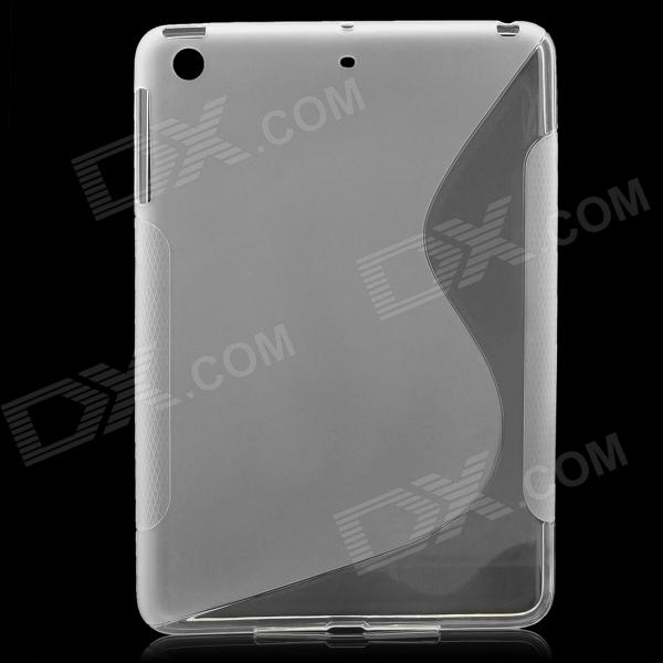 New TPU + PVC Protective Back Case Cover for Ipad MINI - Transparent White tpu protective cover for apple watch 38mm transparent