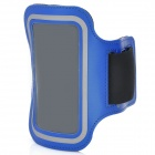 Trendy Sports PU Leather Armband for Iphone 5 - Black + Blue