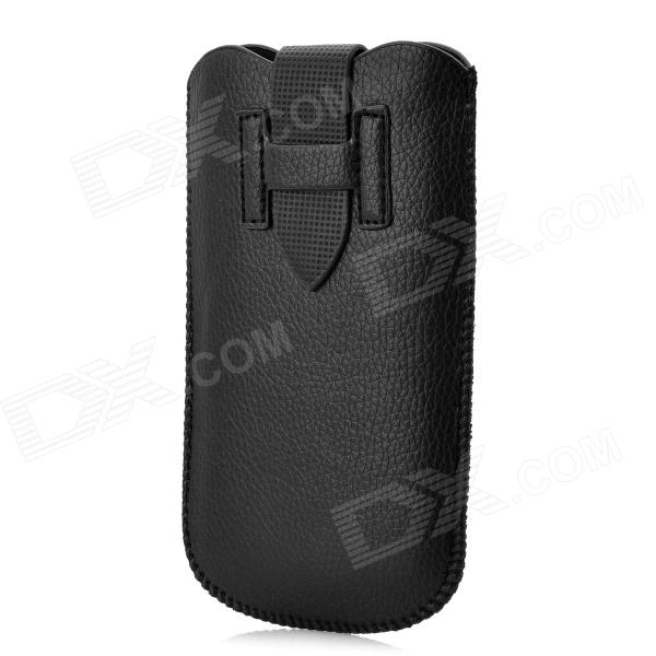 Protective PU Leather Pouch Bag for Samsung Galaxy Nexus i9250 / Galaxy S3 i9300 - Black