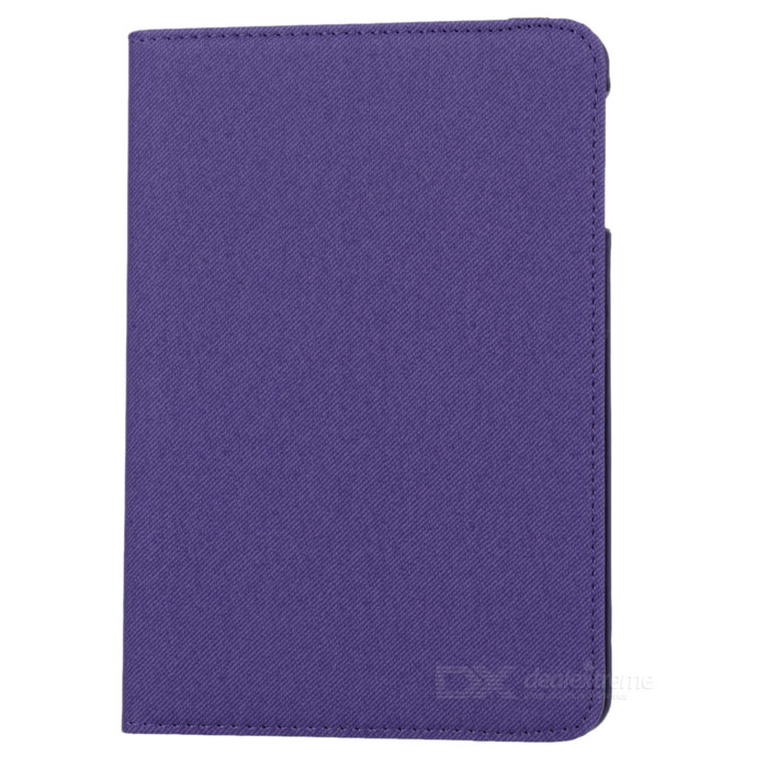 Protective PU + PC Flip Open Case Cover for Ipad MINI - Purple protective pu leather pc flip open case w stand for ipad mini ipad mini 2 blue