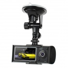 "2.7"" TFT LCD Dual-Lens Wide Angle Digital Car DVR Camcorder with GPS Tracker - Silver + Black"