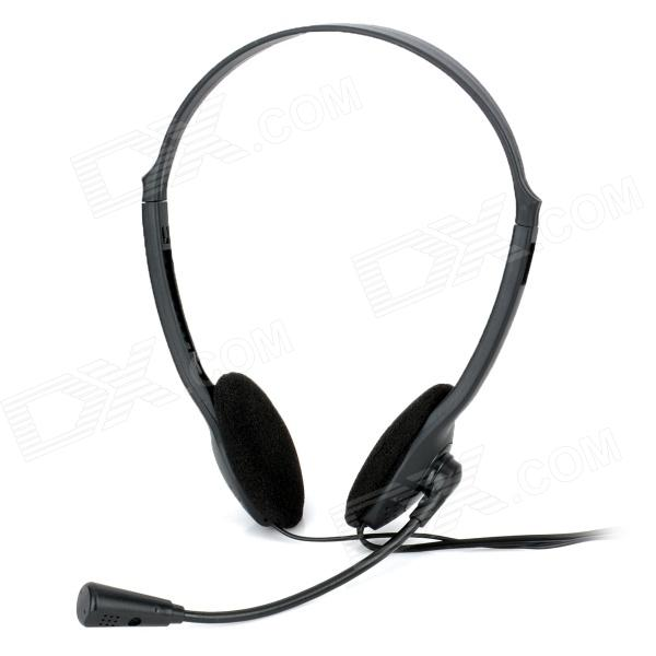 OAKORN 3.5mm Plug Stereo Headset Headphone w/ Microphone - Black