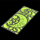 Romantic Fluorescent Moon & Stars Luminous Stickers - Fluorescence Green