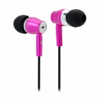 JBM MJ800 Stylish In-Ear Earphone for MP3 / MP4 / Cell Phone - Deep Pink (3.5mm Plug)