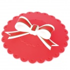 Beautiful Bowknot Style Silicone Cup Cover Lid - Red