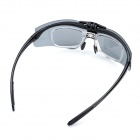 Panlees D546 Reversible Cycling Resin Goggles Glasses w/ Short-sighted Lens Frame- Black