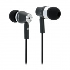 JBM MJ800 Stylish In-Ear Earphone for MP3 / MP4 / Cell Phone - Black (3.5mm Plug)