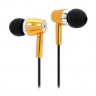 JBM MJ800 Stylish In-Ear Earphone for MP3 / MP4 / Cell Phone - Golden (3.5mm Plug)