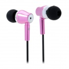 JBM MJ800 Stylish In-Ear Earphone for MP3 / MP4 / Cell Phone - Pink (3.5mm Plug)