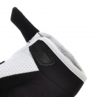 Scoyco A012-XL Sporty Full-Finger Motorcycle Gloves - Black + White (Pair / Size XL)