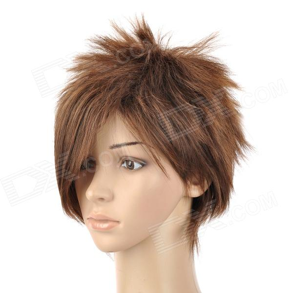 8210 2/30 Fashion Man's Short Straight Hair Wig - Golden