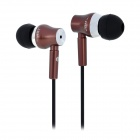 JBM MJ800 Stylish In-Ear Earphone for MP3 / MP4 / Cell Phone - Brown (3.5mm Plug)