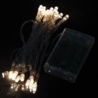 3W 20-LED Warm White Light String Light for Christmas -White