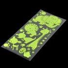 Cute Little Animals Pattern Luminous Stickers - Fluorescence Green