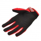 Scoyco A012-L Sporty Full-Finger Motorcycle Gloves - Black + Red (Pair / Size L)