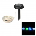 Waterproof 0.06W 100-LED 12m Solar Powered RGB Light Flexible Tube Lamp