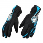 Scoyco MC16 Water Resistant Full-Fingers Motorcycle Gloves - Blue + Black (Pair / Size XL)