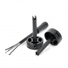 KLOM AML020031 Round Adjustable Cross Lock Opener Locksmith Tool - Black