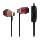 JBM MJ900 In-Ear Earphone w/ Microphone for iPhone / Cell Phone - Iron Grey (3.5mm Plug)