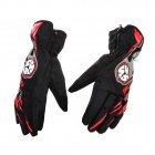 Scoyco MC16 Water Resistant Full-Fingers Motorcycle Gloves - Red + Black (Pair / Size XL)