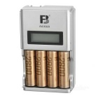 FB 1.5&quot; LCD AA / AAA Ni-MH Battery Charger w/ 4 x AA Batteries (1.2V / 2800mAh)